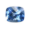 10x8 mm Cushion Checker Board New Blue Topaz AAA Grade
