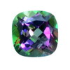 10 mm Rainbow Antique Cushion Topaz in AAA Grade