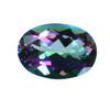 25x18 mm Oval Checker Board Mystic Topaz AAA Grade