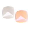 7 mm White/Peach Cushion  Crystal in AAA grade