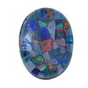 10x8 mm Rainbow Oval Opal Mosaic Triplets in AAA Grade