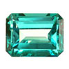10x8 mm Octagon Shape Simulated Emerald in Fine Grade