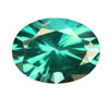 10x8 mm Oval Shape Simulated Emerald in Fine Grade