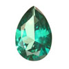 9x6 mm Pear Shape Simulated Emerald in Fine Grade