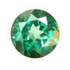 3 mm Round Shape Simulated Emerald in Fine Grade