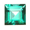 7 mm Faceted Square Paraiba Topaz in AAA Grade