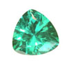5 mm Trillion Shape Simulated Emerald in Fine Grade