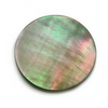 24 mm Round Grey Mother of Pearl in AA grade Not Drilled