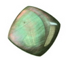 20x20 mm Cushion Grey Rainbow Mother of Pearl in AA Not Drilled