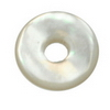 12 mm Round Donut White Mother of Pearl in AA grade Not Drilled