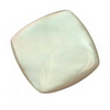 15 mm Cushion White Mother of Pearl in AA grade Not Drilled