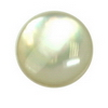 15 mm Round Flat Bottom White Mother of Pearl in AA  Not Drilled