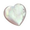 7 mm Heart White Mother of Pearl in AA grade Not Drilled