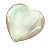 25 mm Heart White Mother of Pearl in AA grade Not Drilled