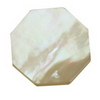 18 mm  Octagon White Mother of Pearl in AA grade Not Drilled