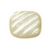 9x8 mm Cushion Carved White Mother of Pearl in AA  Not Drilled