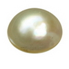 8 mm Round (Flat) Golden Pearl in AA grade Not Drilled