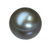 8 mm Round Black Pearl in AA grade Half Drilled
