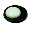 22 mm Round Black/White Pearl/Onyx in AA grade Not Drilled