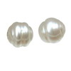 10 mm Ringed Round White Pearl in AA grade Full Drilled