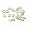 4 mm Flat Button White Pearl in AA grade Full Drilled