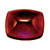 7x5 mm Long Cushion Rhodolite Cabochon in AAA Grade