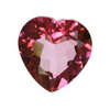 7 mm Ruby Red Heart Rubellite in A Grade