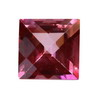 2.5 mm Ruby Red Square Rubellite in A Grade