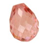 12x12 mm Strawberry Pink Briolettes-Pear Topaz in AAA Grade