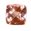 10x10 mm Cushion Checker Board Strawberry Pink Topaz AAA Grade