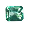 6x6 mm Octagon Checker Board Teal Green Topaz in AAA Grade