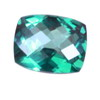 8x6 mm Teal Green Cushion Topaz in AAA Grade