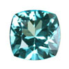 9 mm Checker Board Cushion Teal Blue Topaz in AAA Grade