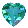 4x4 mm Teal Green Heart Shape Topaz in AAA Grade