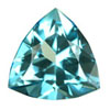 5x5 mm Teal Green Trillion Topaz in AAA Grade