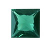 3 mm Square Green Tourmaline in AAA grade