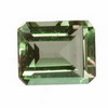 12x8 mm Green Emerald Cut Amethyst (Prasiolite)