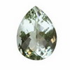 15 ct. Pear Checker Board Green Amethyst in AAA Grade