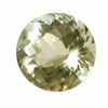 18.50 ct. Round Checker Board Green Amethyst in AAA Grade