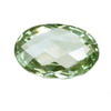 14x12 mm Oval Checker Board Green Amethyst AAA Grade