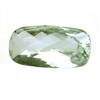 14 ct. Long Cushion Checker Board Green Amethyst in AAA Grade