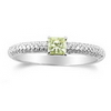 0.55 Carat Princess cut Diamond Ring in 18k White Gold