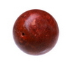 17 mm Redish Brown Round Coral in AAA grade