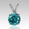 0.50 Ct Blue Diamond Pendant in 14k Gold