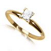 0.35 Carat White Diamond Solitaire Ring in 14k Gold