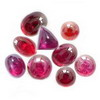25 Cts twt. Mixed Ruby Cabochon Lot size (0.50-5.0 cts)