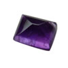 8x6 mm Emerald Cut African Amethyst Cabochon in SUPER Grade