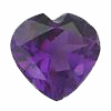 8 mm Heart Shape African Amethyst in AAA Grade