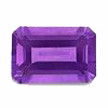 7x5 mm Emerald Cut African Amethyst in A Grade