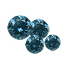 3 ct. Round Blue Diamond I2/I3 Clarity Lot Size 1-3 mm